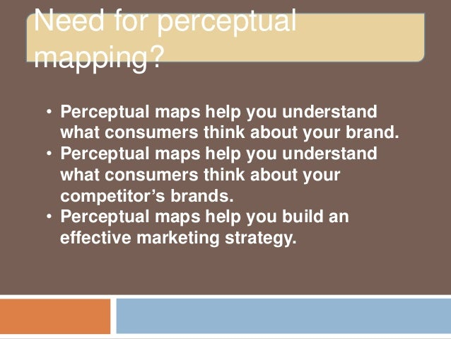 methods for producing perceptual maps from data darden Methods for producing perceptual maps from data case solution, note this course is designed for use in an mba-level marketing research the note provides students with an overview of the perceptual maps to construct fr.