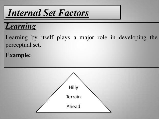 perceptual set Gestalt principles, or gestalt laws is a set composed of a certain number ecological statistics of gestalt laws for the perceptual organization of.