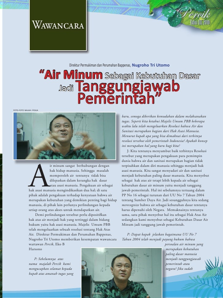 Wawancara                                                                                           Edisi III, 2010       ...