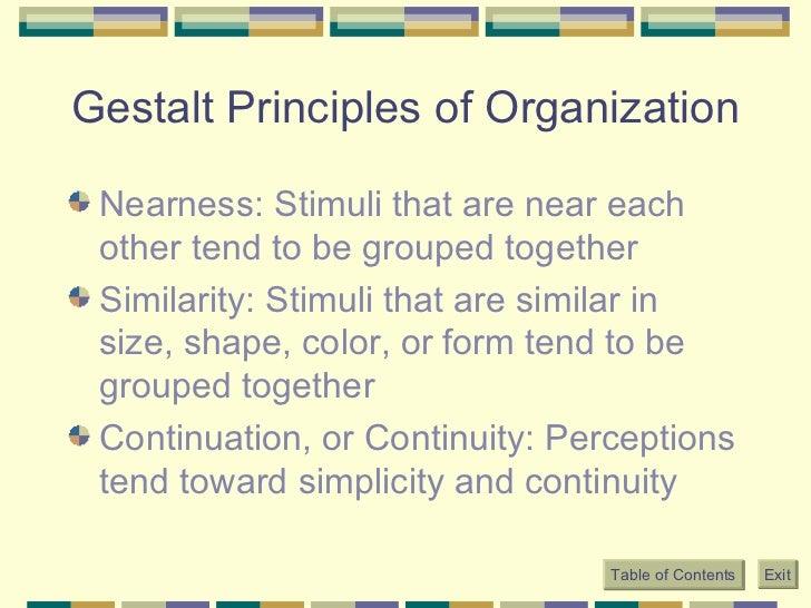 Principles of grouping