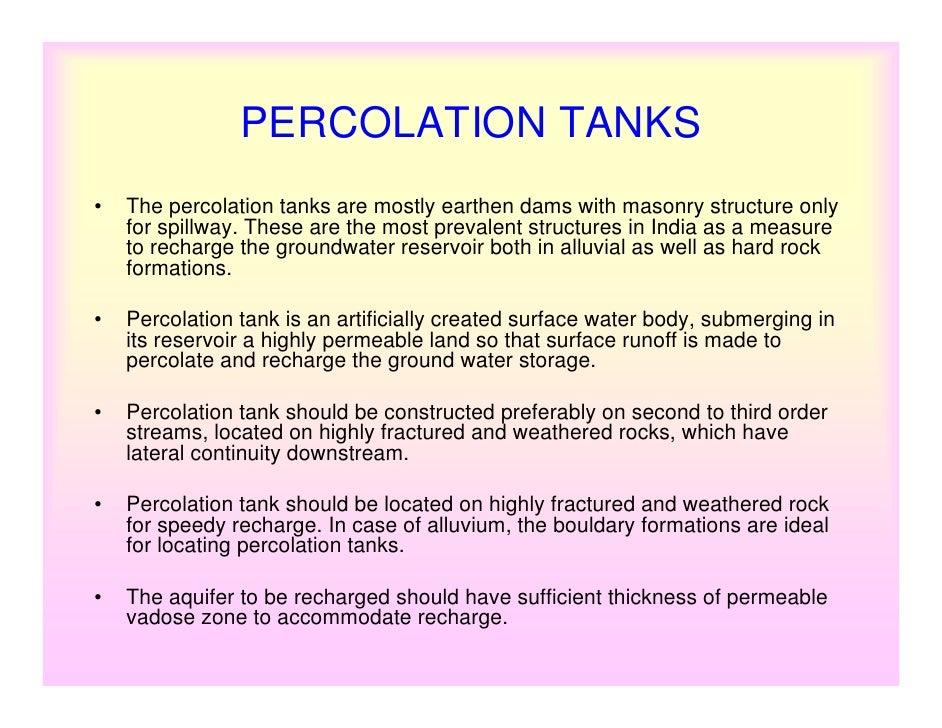 Hydrologic Design Of A Percolation Tank
