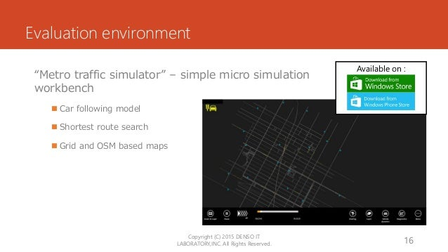 """Available on : Evaluation environment """"Metro traffic simulator"""" – simple micro simulation workbench  Car following model ..."""