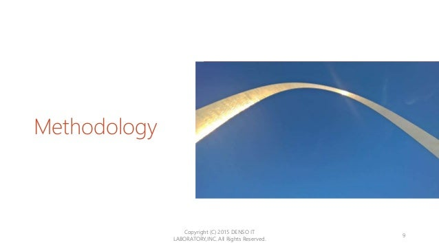 Methodology Copyright (C) 2015 DENSO IT LABORATORY,INC. All Rights Reserved. 9