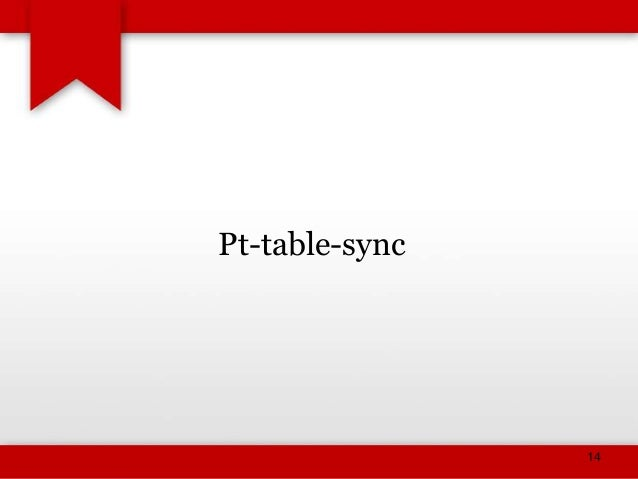 Percona tool kit for MySQL DBA's