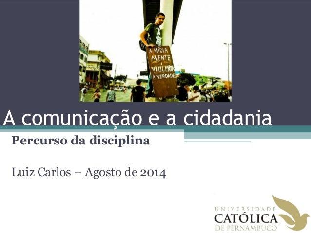 Comunicação e cidadania