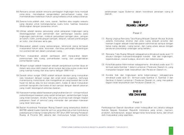 PERATURAN DAERAH KHUSUS IBUKOTA JAKARTA NOMOR 1 TAHUN 2012 kawasan tertentu sebagai pusat pemerintahan nasional yang dihub...