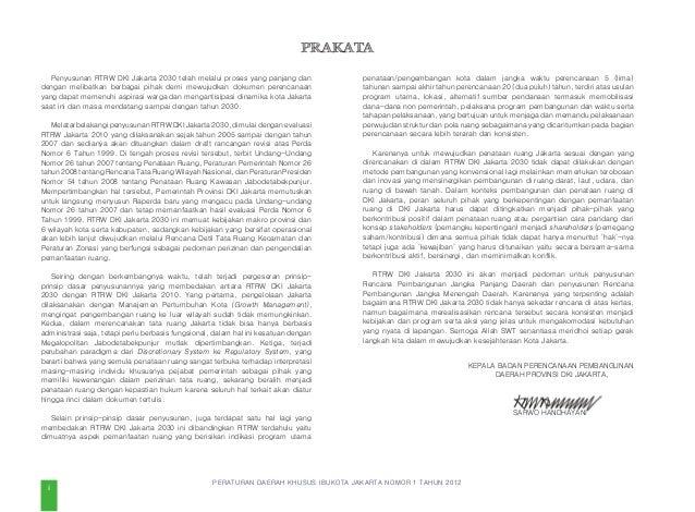 PERATURAN DAERAH KHUSUS IBUKOTA JAKARTA NOMOR 1 TAHUN 2012 DAFTAR ISI PRAKATA KEPALA BAPPEDA PROVINSI DKI JAKARTA ii...
