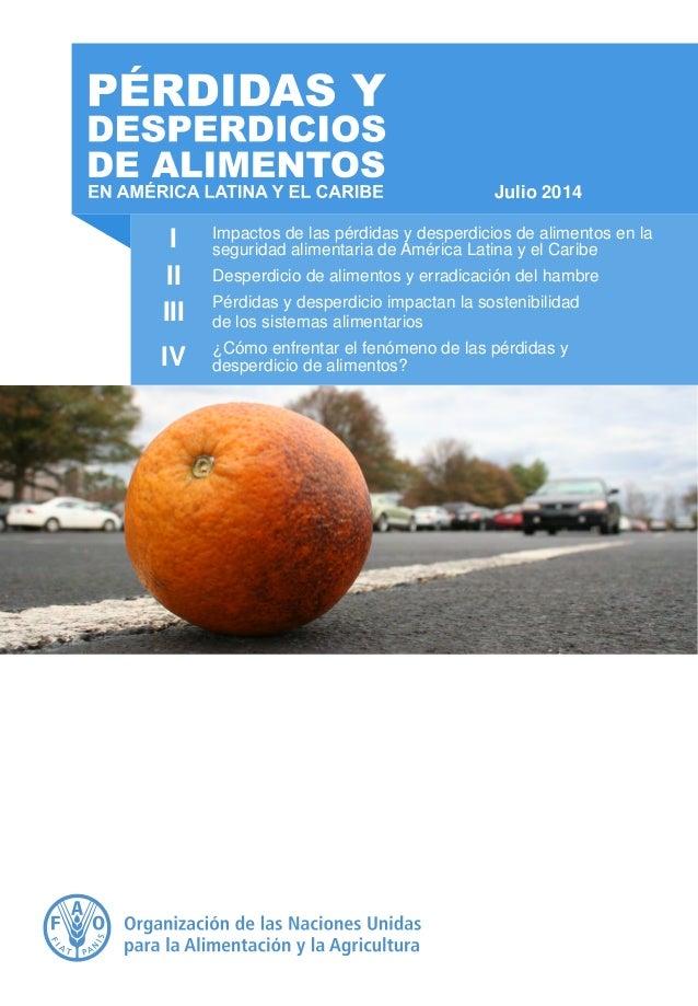 I Impactos de las pérdidas y desperdicios de alimentos en la seguridad alimentaria de América Latina y el Caribe Desperdic...