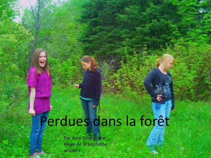 Perdues dans la forêt<br />Par Amy Soucy, une élève de la septième année.<br />