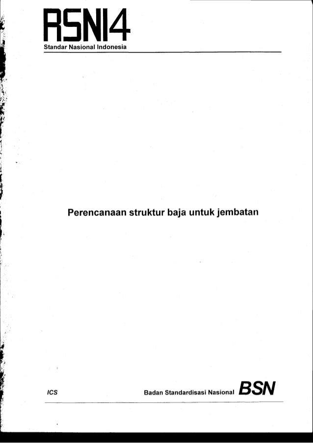 H5N14 StandarNasionalIndonesia  Perencanaan strukturbajauntukjembatan  rcs  Nasional Badan standardisasi BS^t