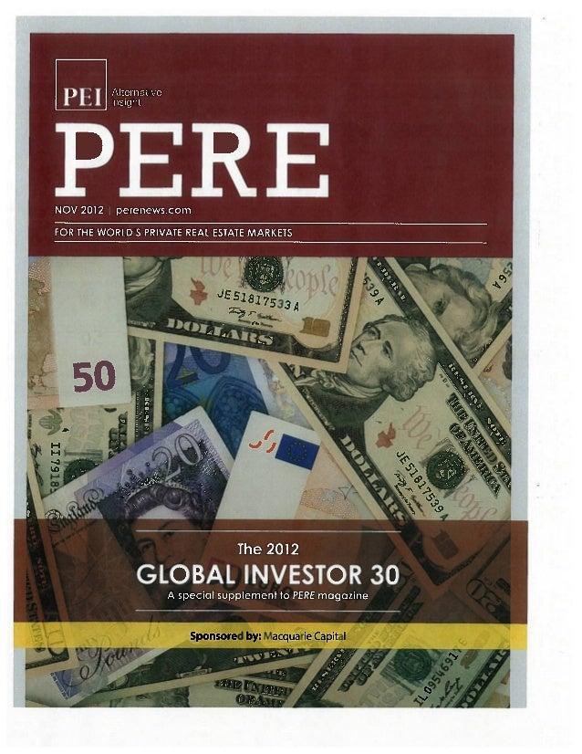 Pere global investor report 2012