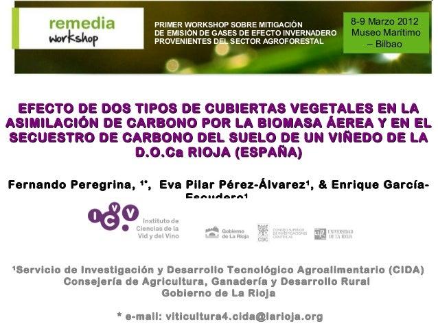 PRIMER WORKSHOP SOBRE MITIGACIÓN            8-9 Marzo 2012                                DE EMISIÓN DE GASES DE EFECTO IN...
