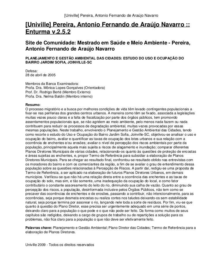 [Univille] Pereira, Antonio Fernando de Araújo Navarro[Univille] Pereira, Antonio Fernando de Araújo Navarro ::Enturma v.2...