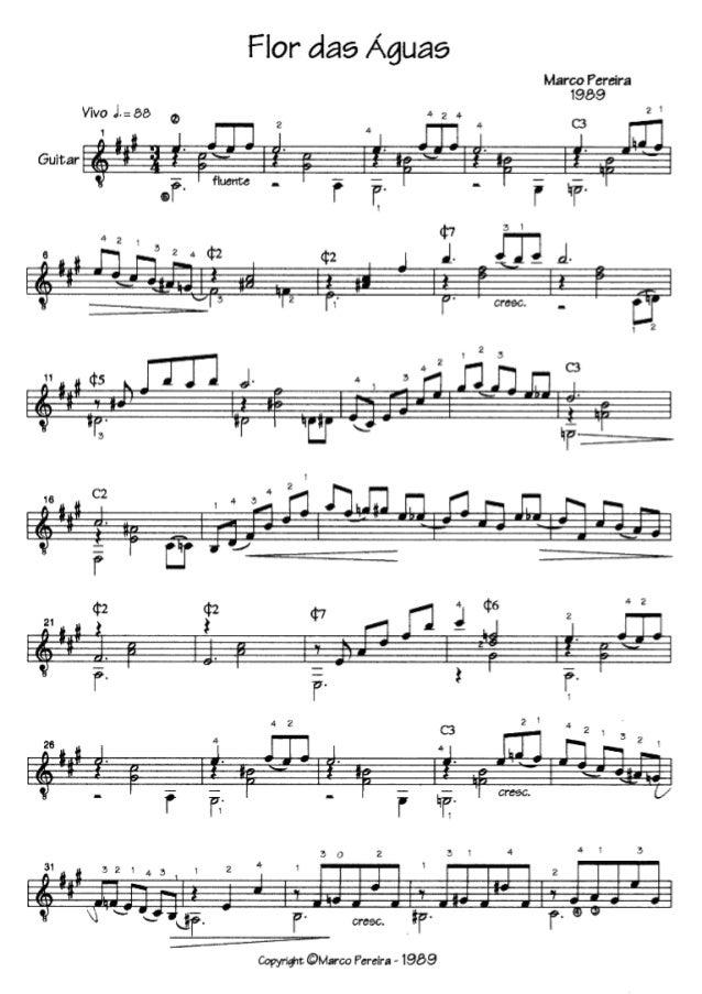 Flor dae Águas  Marco Pereira 1969  Guitar : Iggàírí-íríium íifmríufm  197-!  _Z__m_l__l*-'ltm  furou: : ¡al-_l---l-      ...