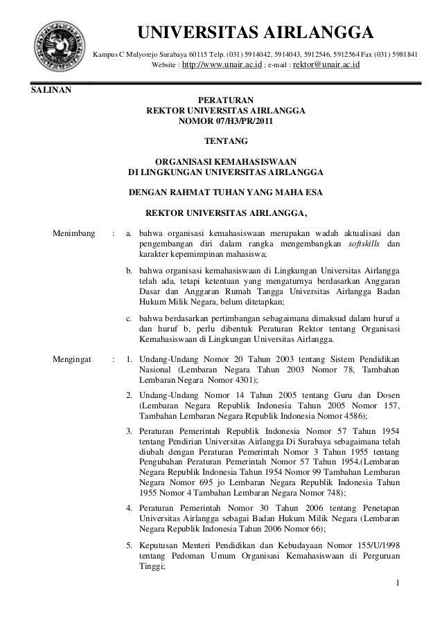 UNIVERSITAS AIRLANGGA               Kampus C Mulyorejo Surabaya 60115 Telp. (031) 5914042, 5914043, 5912546, 5912564 Fax (...
