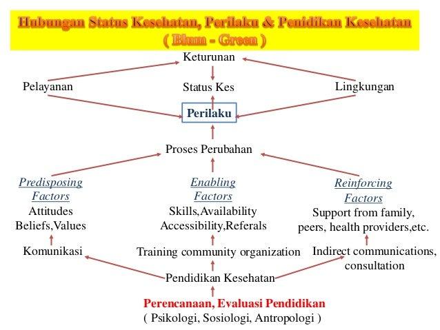 Keturunan Pelayanan Status Kes Lingkungan Perilaku Proses Perubahan Predisposing Factors Attitudes Beliefs,Values Enabling...