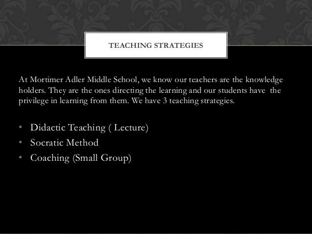 At Mortimer Adler Middle School, we know our teachers are the knowledge holders. They are the ones directing the learning ...