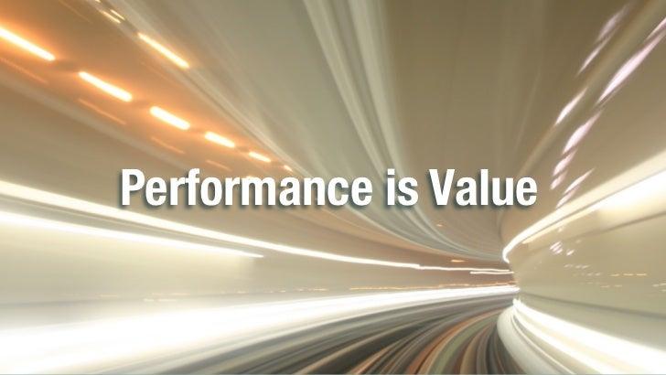 Performance is ValuePerformance is Value