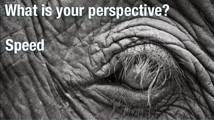 What is your perspective?Speed