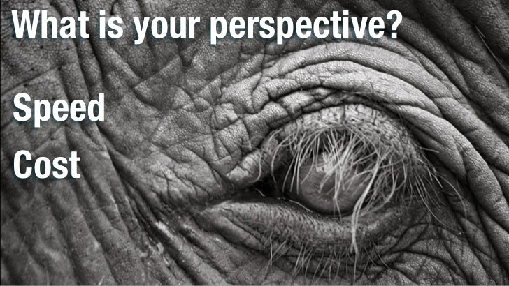 What is your perspective?SpeedCost