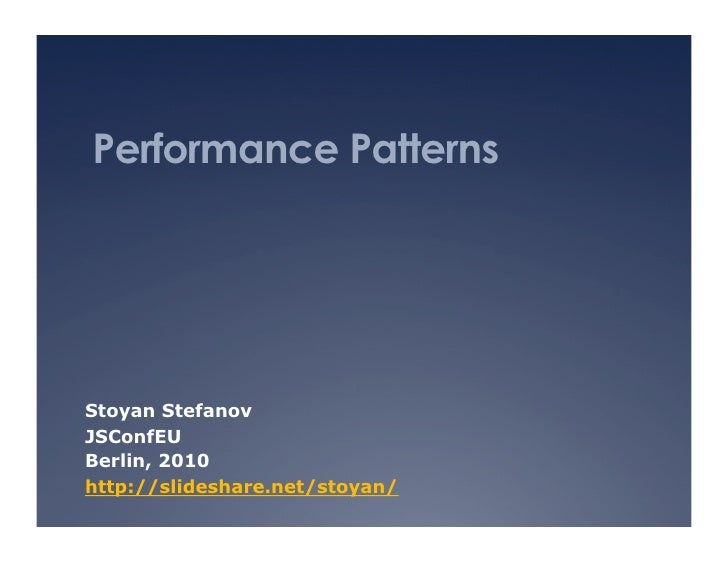 Performance patterns
