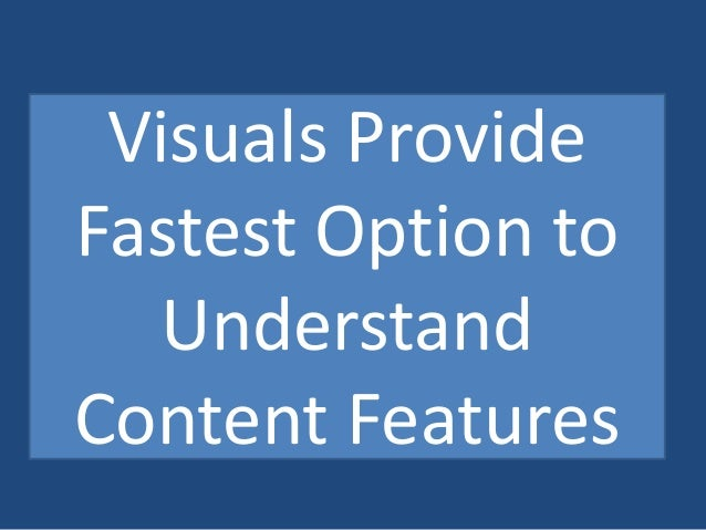 Fastest Way to Understand  Up to 90% Info Transferred By  Visuals to Brain  Up To 40% People Responding  Perfect Way to Ex...
