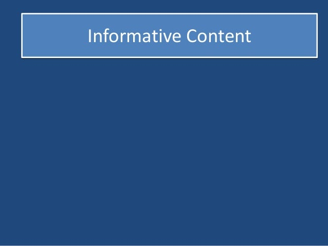 Informative Content  Helpful Information  Educational Way  Entertaining Features