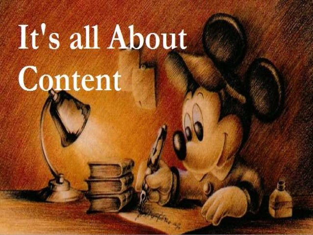 We all know that  Content must be