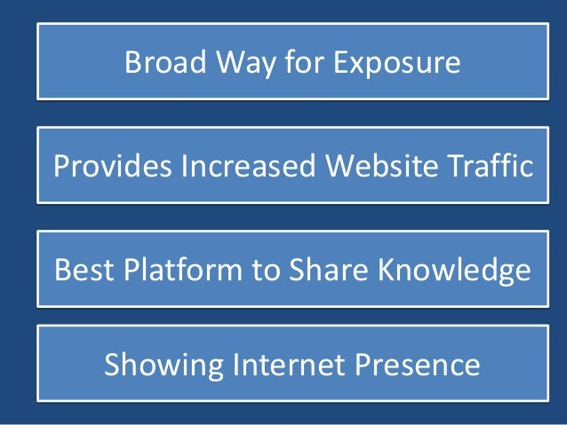 Helpful to Disclose Website Info  Effective Introduction of Products  Best Platform for Announcement