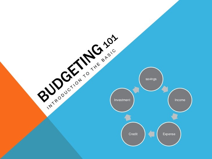BUDGETING 101<br />INTRODUCTION TO THE BASIC<br />