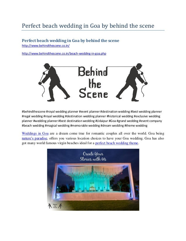 Perfect beach wedding in Goa by behind the scene Perfect beach wedding in Goa by behind the scene http://www.behindthescen...