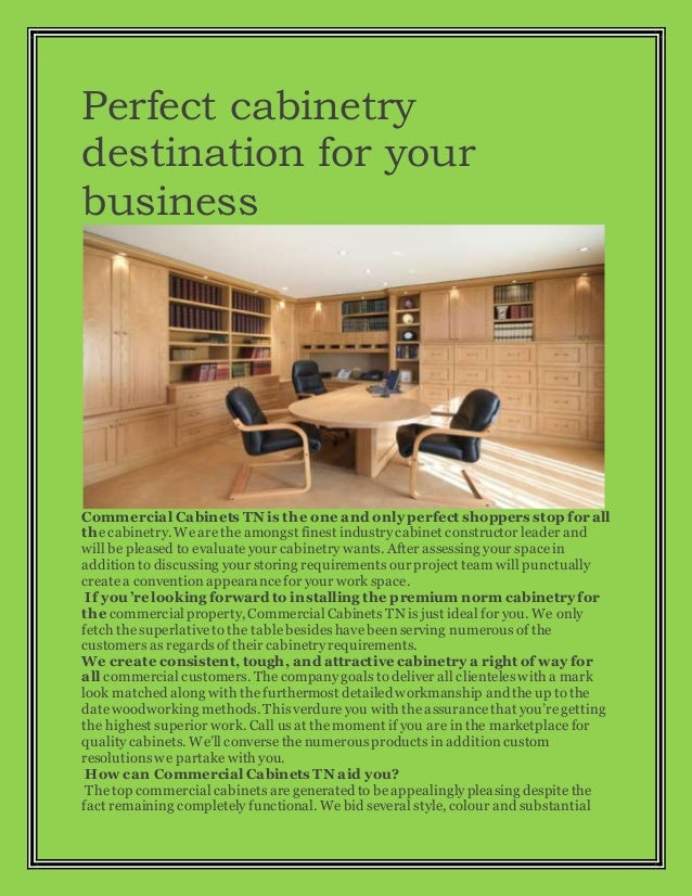 Perfect cabinetry destination for your business Commercial Cabinets TN is the one and onlyperfect shoppers stop for all th...