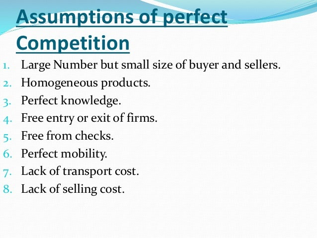 assumptions of perfect competition pdf