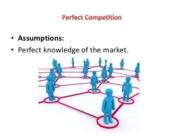 assumptions of perfect competition The assumption of the perfect competition theory in the economic theory is one among other markets that then to show that no association under the theory is large enough to hold the market power that sets the prices of comparable products.