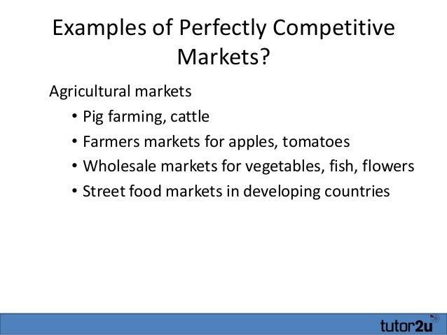 examples of pure competition in economics