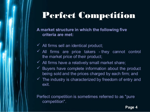 Perfect Competition Examples Roho4senses