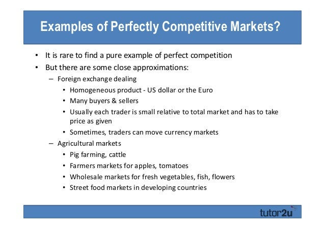 perfectly competitive market examples