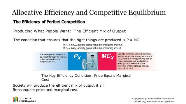 is perfect competition efficient