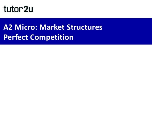 A2 Micro: Market Structures Perfect Competition