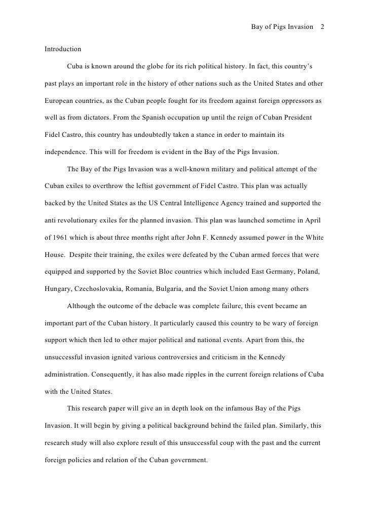 bay of pigs invasion research paper