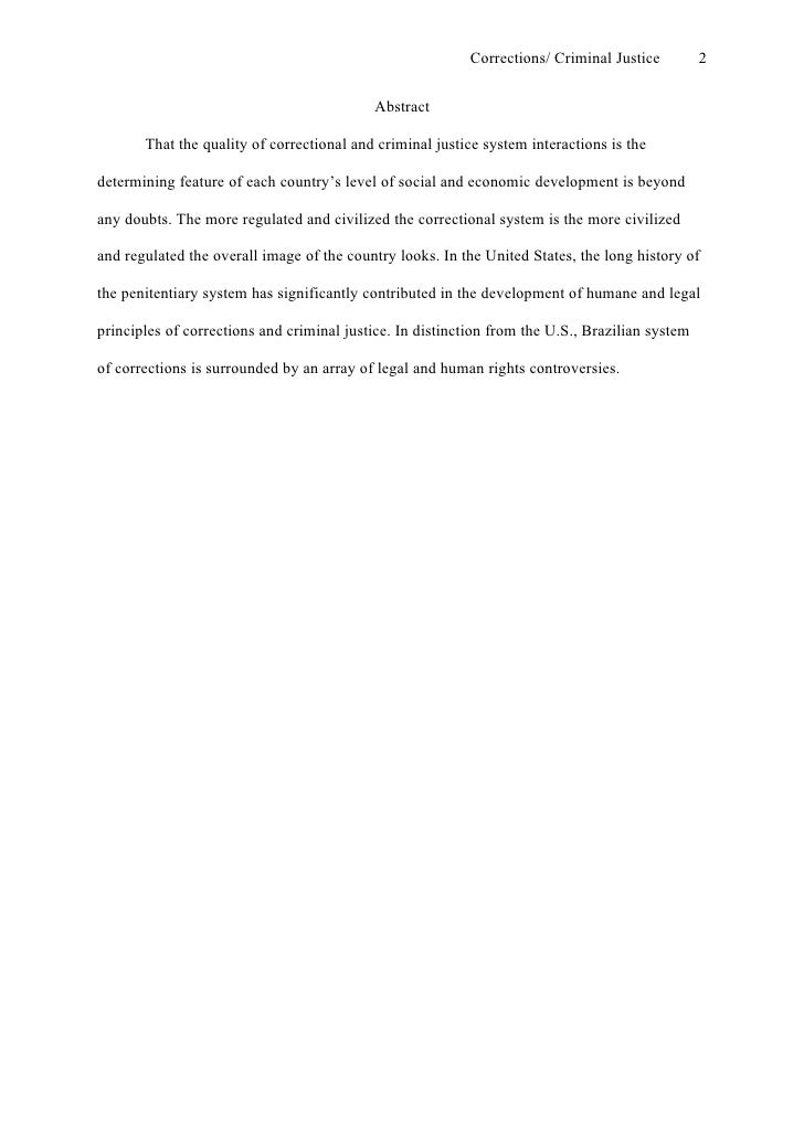 perfectessay net research paper sample apa style  2 corrections criminal justice