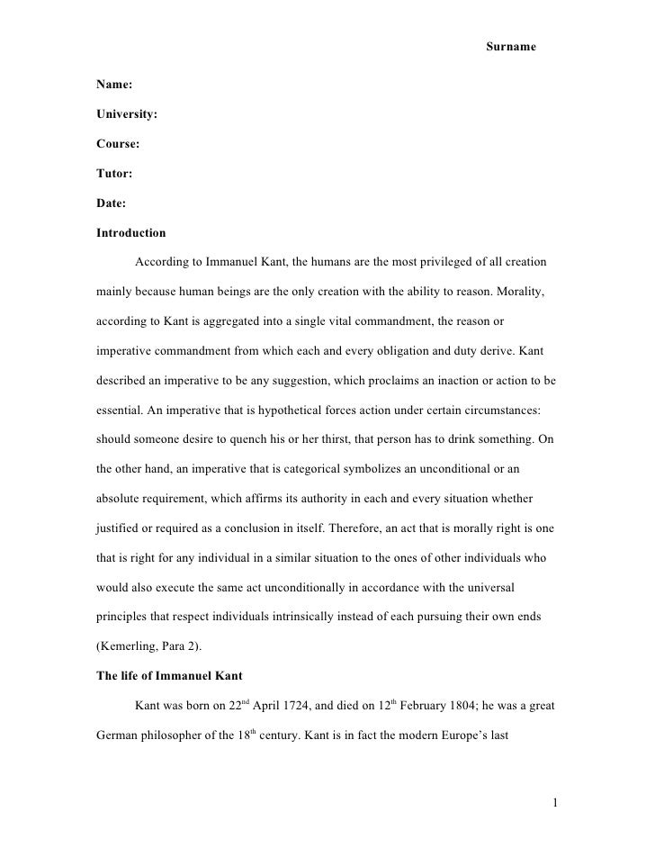 example of a college essay paper