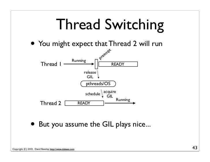 Thread Switching                • You might expect that Thread 2 will run                      pt                         ...
