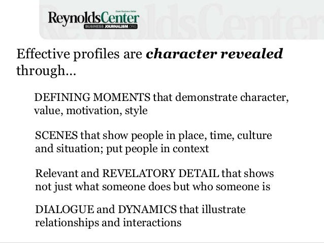 paragraph about character