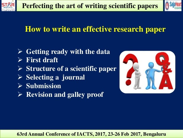 Perfecting the Art of Scientific Papers - Star Hospitals