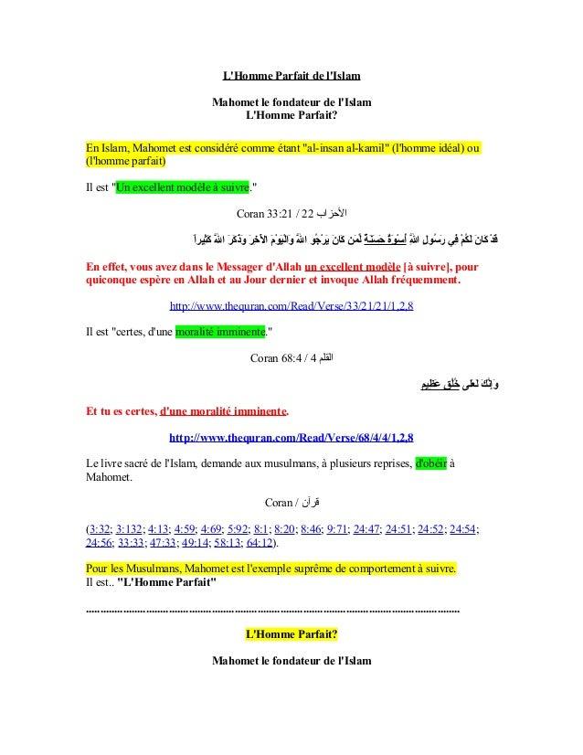 LHomme Parfait de lIslam                                             Mahomet le fondateur de lIslam                       ...