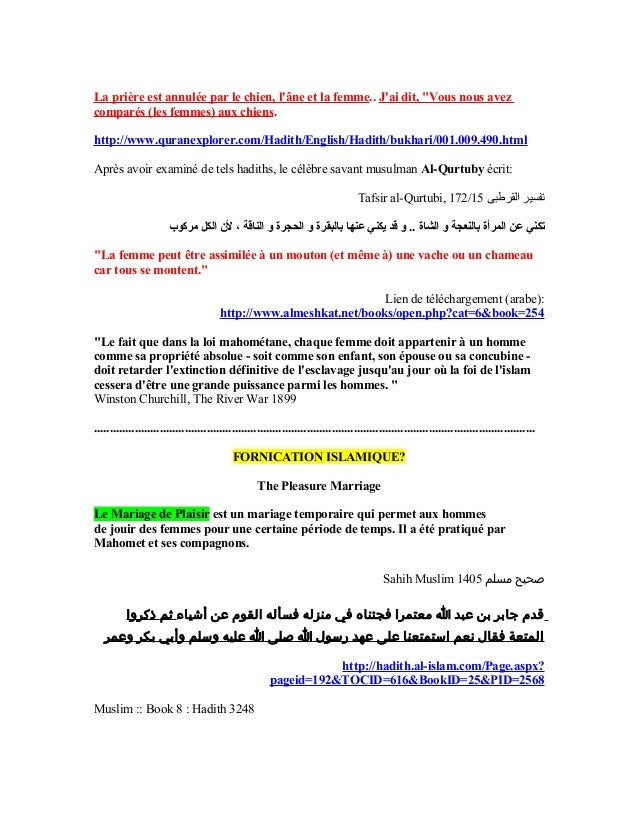 23 - Hadith Relation Hors Mariage