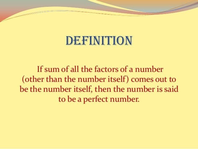 perfect numbers We prove that a relation between even perfect numbers and mersenne prime numbers proved by euclid and euler definitions, open problems, theorems are given.