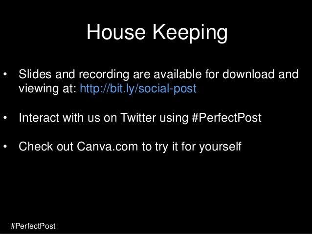 1 #PerfectPost