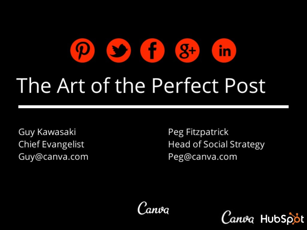 The Art of the Perfect Social Media Post